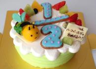 数字アイシングクッキーでお誕生日の年(ハーフバースデー)を表現しました。