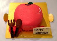 リンゴ好きなあの人に、丸ごとリンゴ型ケーキをプレゼント!